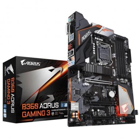 Gigabyte B360 AORUS Gaming 3 ATX Motherboard Intel B360 LGA 1151-2 4xDDR4 5xPCIe 3xM.2 6xSATA3 6xUSB3.1 6xUSB2.0 CrossFire GA-B360-AORUS-Gaming-3