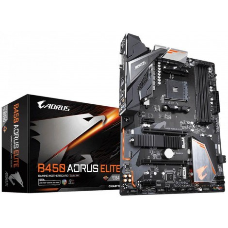 Gigabyte B450 AORUS ELITE Ryzen AM4 ATX Motherboard DDR4 PCIE M.2 GA-B450-AORUS-ELITE