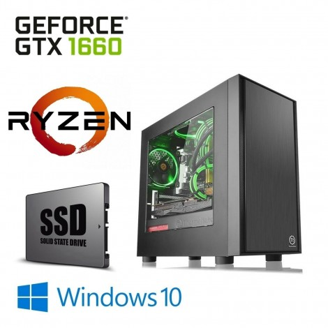 AMD Ryzen 5 2600 1TB+120GB SSD 8GB GTX 1660 6GB Gaming Computer Desktop PC