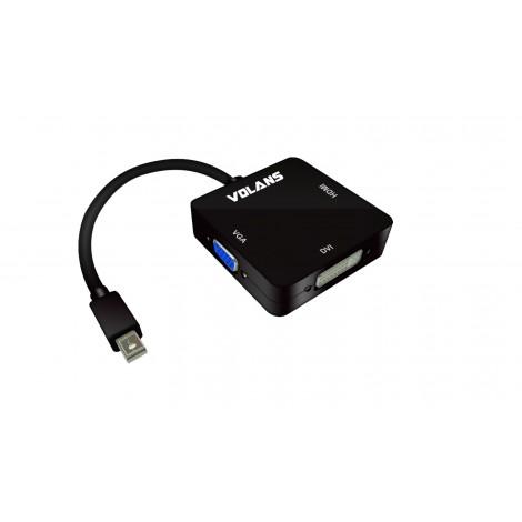 Volans VL-MDPHDV Mini DisplayPort mDP to HDMI DVI VGA Converter