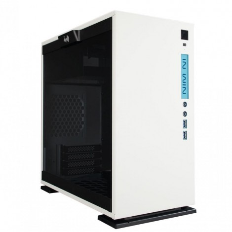 In Win 301-WHITE Mini Tower Micro ATX Case Tempered Glass Window Front Panel LED