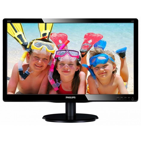 "Philips V Line 19.5"" Full HD MVA LED LCD Monitor 1920x1080 VGA DVI-D 200V4QSBR"