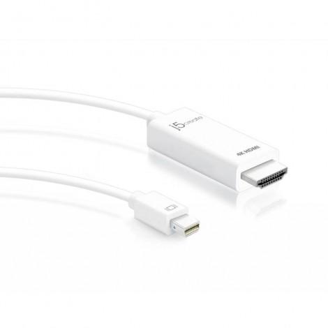 J5create JDC159 4K Mini DisplayPort MDP to HDMI 1.8m Cable