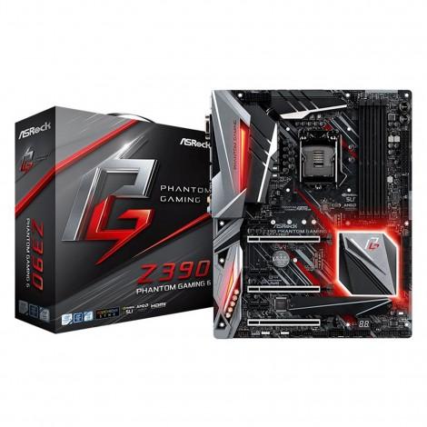 ASRock Z390 Phantom Gaming 6 LGA 1151 ATX Motherboard Z390-PHANTOM-GAMING-6