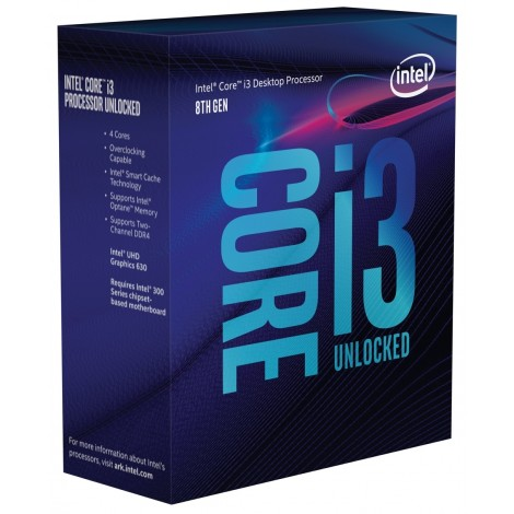 Intel Core i3 8350K Processor 6MB 4.0 GHz LGA 1151 4 Core 4 Thread Desktop CPU BX80684I38350K