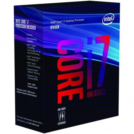 Intel Core i7 8700K Processor 12MB 3.7GHz LGA1151 6 Core 12 Thread Desktop CPU BX80684I78700K