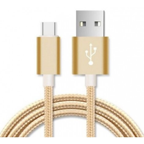Astrotek 3m Micro USB Data Sync Charger Cable Cord Gold Color for Samsung HTC Motorola Nokia Kndle Android Phone Tablet & Devices