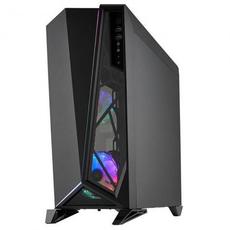 Corsair Carbide SPEC-OMEGA RGB Tempered Glass Mid Tower Gaming Case BLACK CC-9011140-WW