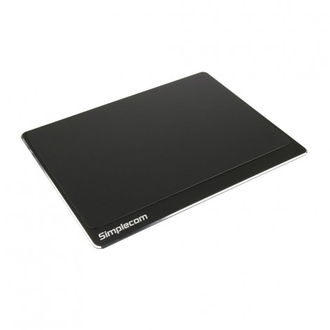 Simplecom CM210 Aluminium Panel Gaming Mouse Pad with Non-Slip Base for Accurate Control CM210-BK