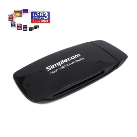 Simplecom CR307 SuperSpeed USB 3.0 All In One Card Reader with CF 4 Slot CR307
