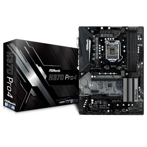 ASRock H370 PRO4 ATX Motherboard Intel H370 LGA 1151-2 4xDDR4 5xPCIe 3xM.2 6xSATA3 4xUSB3.1 2xUSB2.0 CrossFireX H370-PRO4