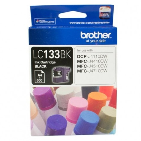 Brother LC-133BK Black Ink Cartridge 600 Pages