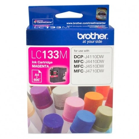Brother LC-133M Magenta Ink Cartrid