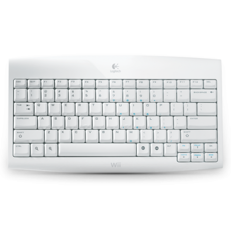 Logitech Cordless Keyboard For Wii English Layout Wireless Nintendo