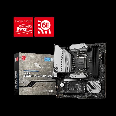 MSI MAG B560M MORTAR WIFI Intel LGA1200 mATX USB3.2 Motherboard