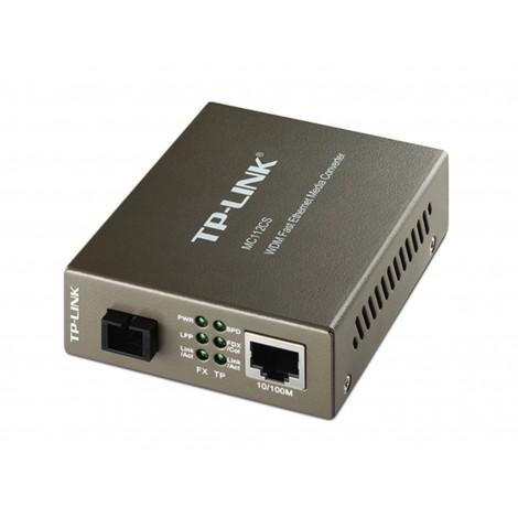 TP-LINK MC112CS 10/100Base-TX WDM Fast Ethernet Media Converter