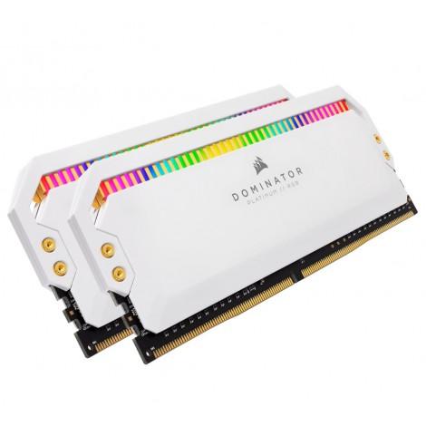 Corsair Dominator Platinum RGB 16GB (2x8GB) DDR4 3600MHz C18 1.35V UDIMM XMP 2.0 White Heatspreaders Desktop PC Gaming Memory