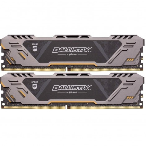 Crucial Ballistix Sport LT 16GB (2x8GB) DDR4 2666MHz C16 Gaming Memory Grey BLS2K8G4D26BFSB