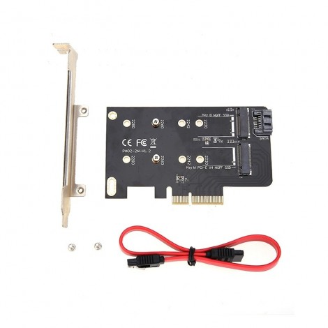 Simplecom EC412 Dual M.2 (B Key and M Key) to PCI-E x4 and SATA 6G Expansion Card