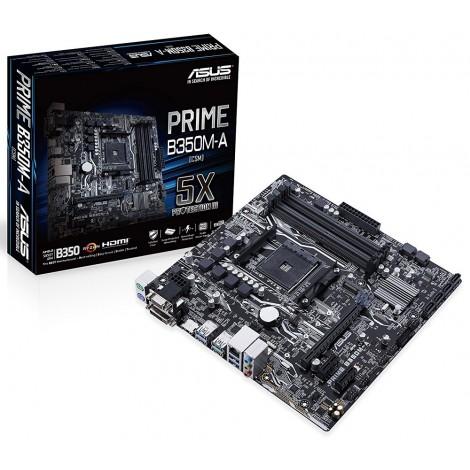 Asus Prime B350M-A mATX Motherboard AMD AM4 Ryzen DDR4 USB 3.1 HDMI DVI VGA M.2