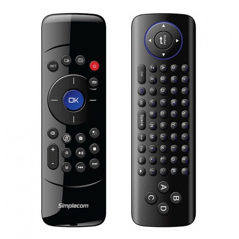 Simplecom Rechargeable 2.4G Wireless Remote Air Mouse Keyboard for PC TV Box RT200