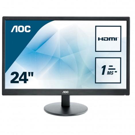 "AOC E2470SWH 24"" LED LCD Gaming Computer Monitor FHD 1ms Speaker HDMI DVI VGA"