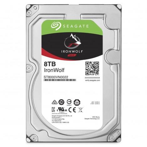 "Seagate IronWolf 8TB 3.5"" SATA Internal NAS Hard Drive HDD 7200RPM 256MB Cache ST8000VN0022"