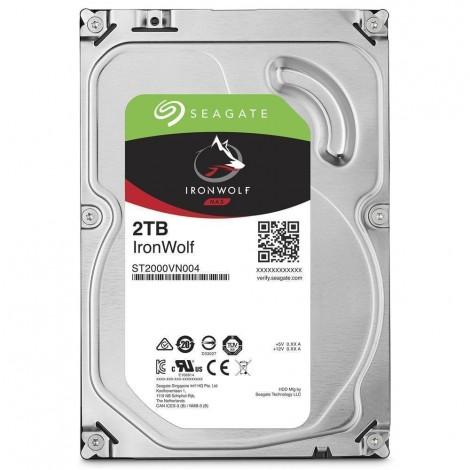 "Seagate IronWolf 2TB 3.5"" SATA Internal NAS Hard Drive HDD 5900RPM 64MB Cache ST2000VN004"