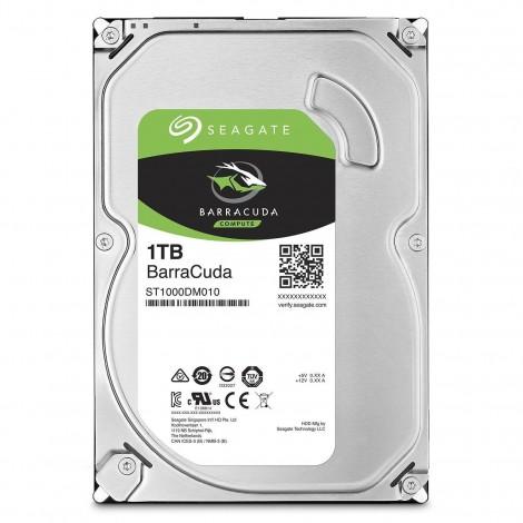 """Seagate BarraCuda 1TB 3.5"""" SATA Internal Desktop Hard Drive HDD 7200RPM 64MB ST1000DM010"""