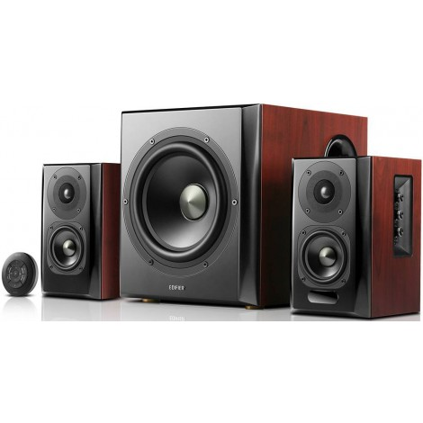 Edifier S350DB 2.1 Bluetooth Multimedia Speakers w/Subwoofer - 3.5mm/Optical/BT 4.1 AptX Wireless Sound/ Remote Control/8inch Booming Subwoofer
