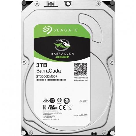 """Seagate BarraCuda 3TB 3.5"""" SATA Internal Desktop Hard Drive HDD 5400RPM 256MB ST3000DM007"""