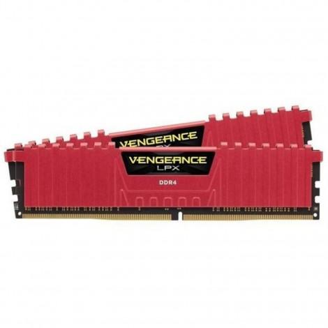 Corsair Vengeance LPX Red 32GB(16GBx2) 2400MHz DDR4 Desktop RAM CMK32GX4M2A2400C14R