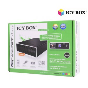 "ICY BOX IB-RD2253-U31 - External RAID Enclosure for 2x 2.5"" SATA I/II/III HDD"