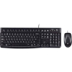 Logitech MK120 USB Wired Keyboard and Mouse Combo for Desktop Laptop PC Mac 920-002586