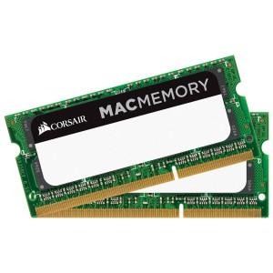 CORSAIR Mac Memory Apple Qualified 8GB (2x4GB) DDR3 DRAM SODIMM 1333MHz C9 1.5V CMSA8GX3M2A1333C9