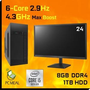 "Intel Core i5 10400 10th Gem 2.9GHz DESKTOP COMPUTER 1TB 8GB 24"" LED Win 10 HDMI GAMING PC"