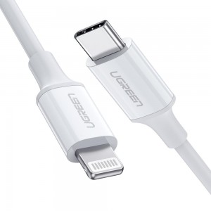 UGREEN 10493 MFI USB-C to Lightning Cable 1M White