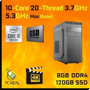 INTEL 10-Core i9 10900K Max 5.3GHz GAMING COMPUTER 120GB 8GB DDR4 HDMI Desktop PC