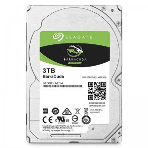 "Seagate 3TB BarraCuda 2.5"" 15mm SATA 3 5400RPM Laptop Hard Disk Drive(HDD) ST3000LM024"