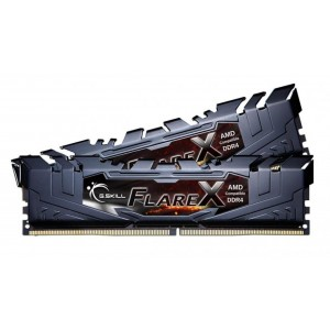 G.Skill Flare X Black 16GB (2x8GB) DDR4 3200MHz Dual Channel RAM Kit C14 AMD Ryzen Gaming Desktop Memory PC4-25600 1.35V F4-3200C14D-16GFX