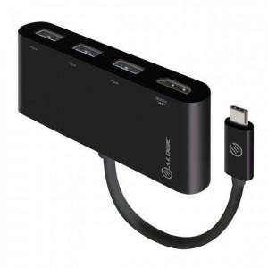 ALOGIC 10cm USB-C MultiPort Adapter with HDMI & 3 Port USB 3.0 Hub