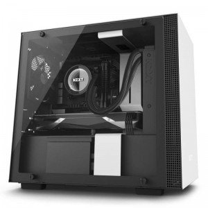 NZXT H200i Smart Matte White Mini ITX ATX Case, T/G Window, No PSU