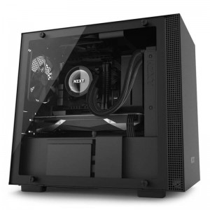 NZXT H200i Smart Matte Black Mini ITX ATX Case, T/G Window, No PSU