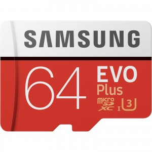Samsung 64GB Evo+ Micro SD Card SDXC UHS-I 100MB/s Mobile Phone TF Memory Card MB-MC64GA