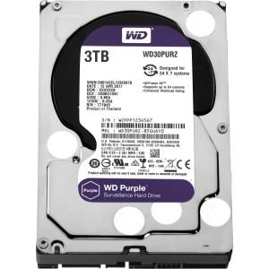 """Western Digital WD Purple 3TB 3.5"""" SATA Internal CCTV Hard Drive HDD 5400RPM WD30PURZ"""