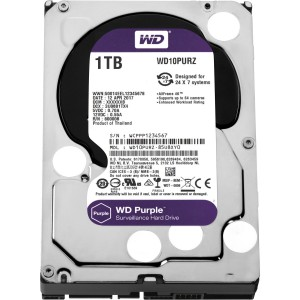 "Western Digital WD Purple 1TB 3.5"" SATA Internal CCTV Hard Drive HDD 5400RPM WD10PURZ"