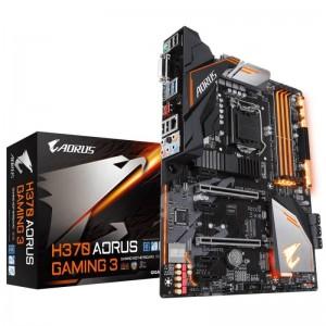 Gigabyte H370 AORUS Gaming 3 ATX Motherboard Intel H370 LGA 1151-2 4xDDR4 6xPCIe 6xSATA3 7xUSB3.1 6xUSB2.0 CrossFire GA-H370-AORUS-Gaming-3