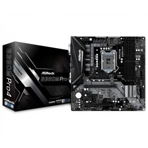 ASRock B360M PRO4 Micro-ATX Motherboard Intel B360 LGA 1151-2 4xDDR4 4xPCIe 2xM.2 6xSATA3 4xUSB3.1 2xUSB2.0 B360M-PRO4