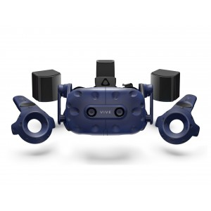 HTC Vive PRO Edition Virtual Reality Kit 2x Controller and Base Station 99HANW007-00