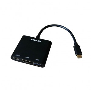 Volans VL-UCH3C Aluminium USB-C Digital AV Multiport Adapter HDMI